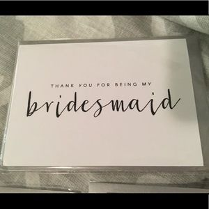 Cards from bride